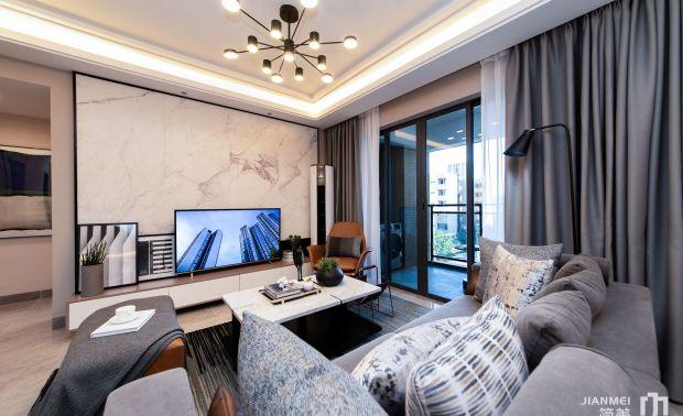 惠州御梓园样板房案例02户型 | 深圳市简美软装设计