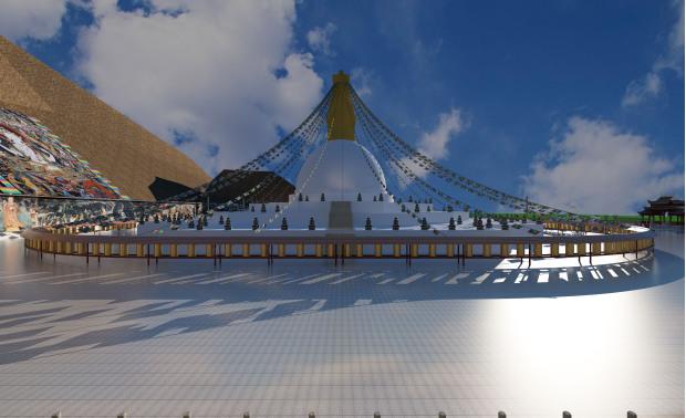 噶来寺广场规划