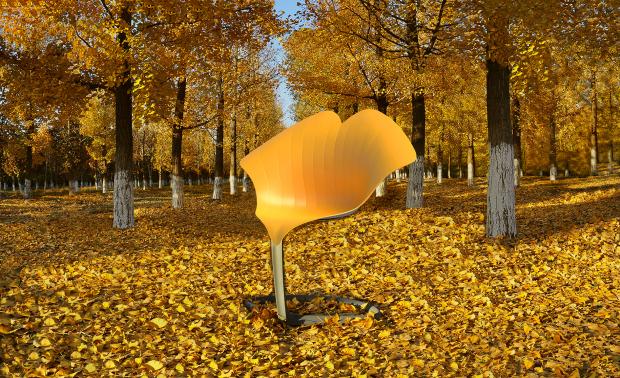 银杏叶椅子