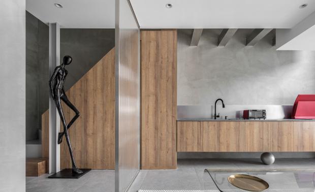 建筑中的建筑,让居家美学与日常办公落入现实之境