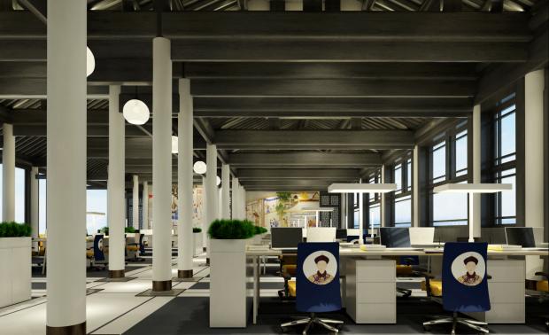 中国会古建室内改造--智度基金办公室